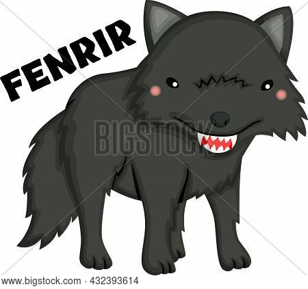 A Vector Of Fenrir From Norse Mythology