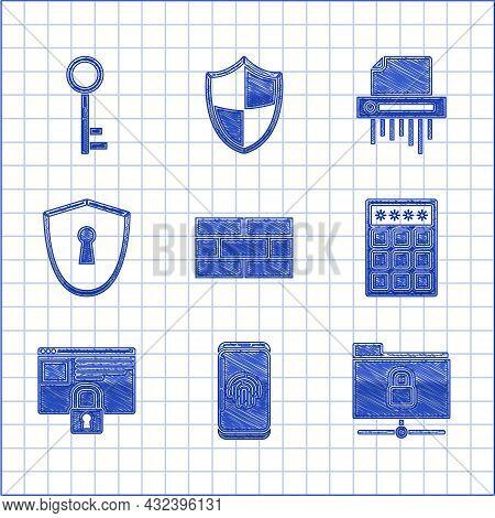 Set Bricks, Smartphone With Fingerprint Scanner, Ftp Folder And Lock, Password Protection Safety Acc
