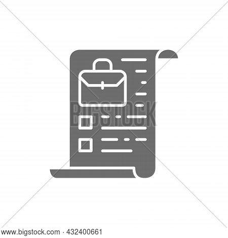 Vector Company Charter, Stocks, Portfolio Grey Icon.