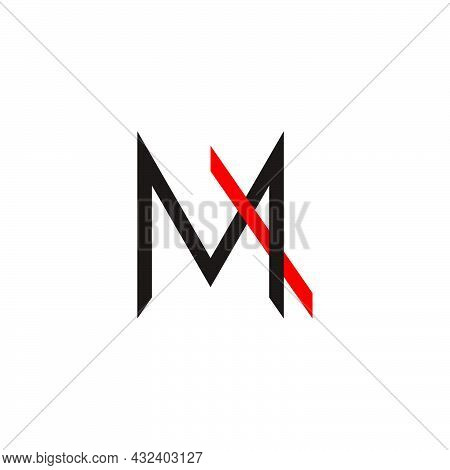 Letter Ma Motion Line Colorful Logo Vector