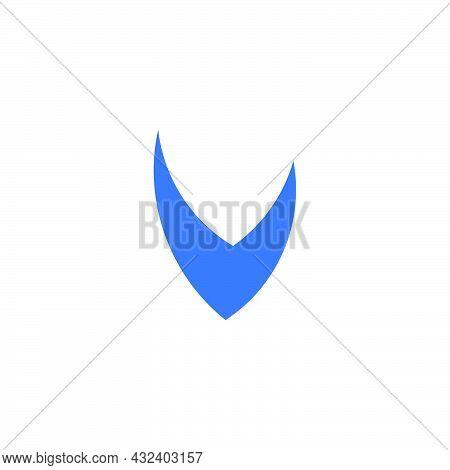 Letter V Simple Geometry Sharp Shape Logo Vector