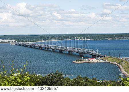 Bridge Over The Volga River In Ulyanovsk