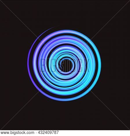 Hurricane, Typhoon, Tropical Storm, Air Cyclone Isolated Vector Illustration On Black Background