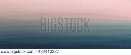 Abstract Wavy Lines Geometric Trendy Gradient  Background Natural Dark Green Combined Color. Modern