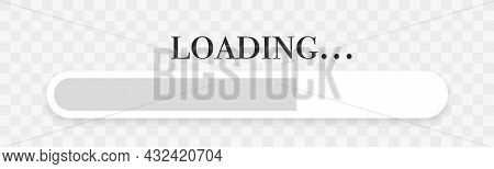 Progress Loading Bar. Load Button Icon. Download Or Upload Status. System Software Update And Upgrad