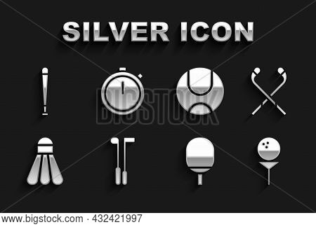 Set Golf Club, Ice Hockey Sticks, Ball On Tee, Racket For Playing Table Tennis, Badminton Shuttlecoc