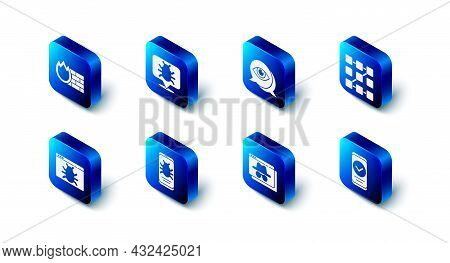 Set System Bug, Eye Scan, Graphic Password Protection, Smartphone, Browser Incognito Window, Mobile,
