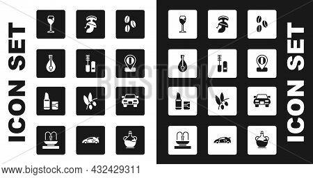 Set Coffee Beans, Mascara Brush, Mandolin, Wine Glass, Location Flag Italy, Roman Army Helmet, Car A