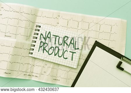 Conceptual Display Natural Product. Word For Chemical Compound Or Substance Produced By A Living Org