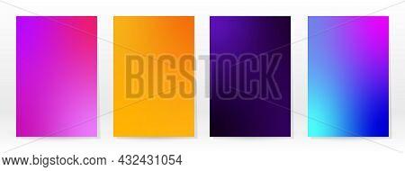 Minimal Poster. Pastel Soft. Rainbow Gradient Set.