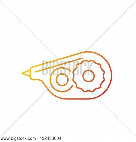 Correction Tape Gradient Linear Vector Icon. Tool For Handwritten Documents. Correct Mistakes With W