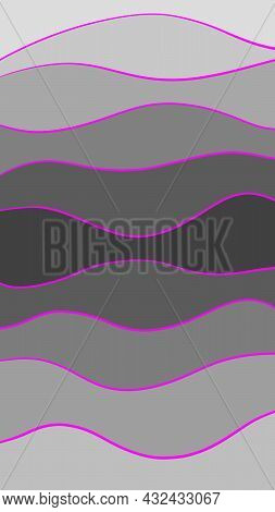Abstract Minimalistic Line Background, Paper Cut, Waves, 16:9 Wallpaper