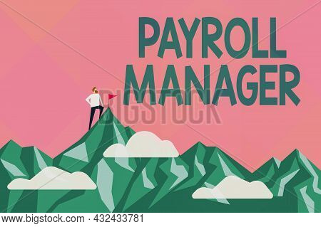 Writing Displaying Text Payroll Manager. Business Showcase Maintains Payroll Information By Designin