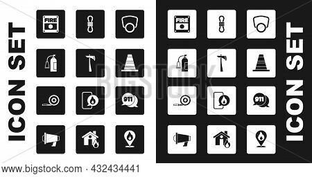 Set Gas Mask, Firefighter Axe, Extinguisher, Alarm System, Traffic Cone, Climber Rope, Telephone Cal