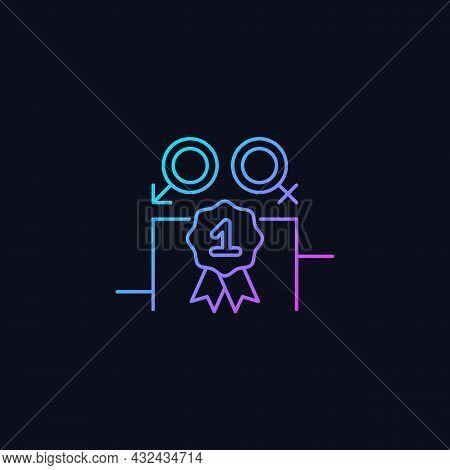 Gender Equality Gradient Vector Icon For Dark Theme. Enjoy Equal Rewards. Gender Parity. Gender-bala