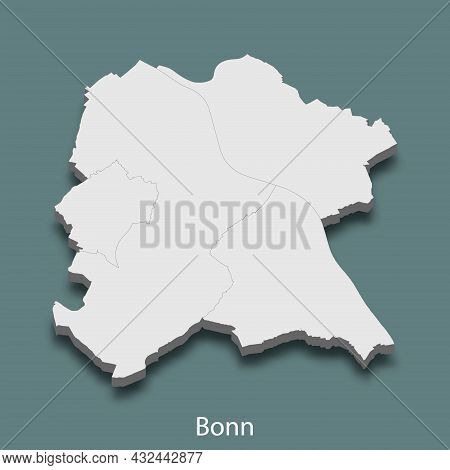 3d Isometric Map Of Bonn Is A City Of Germany