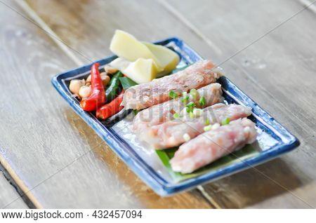 Pickled Pork Sausage, Fermented Pork And Chili Or Sour Pork