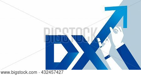 Businessperson And Robot Holding Letter