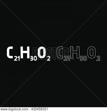 Chemical Formula C21h30o2 Cannabidiol Cbd Phytocannabinoid Marijuana Pot Grass Hemp Cannabis Molecul