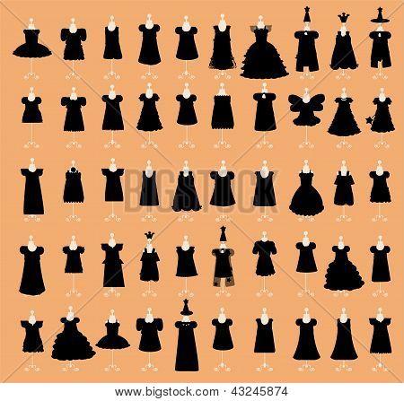 Little Black Dresses Set vector