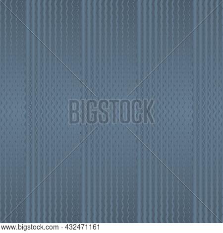 Light Blue Zigzag Seamless Pattern. Pantone Spring Lake. Vector Illustration