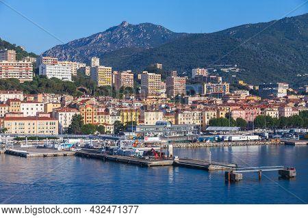 Ajaccio, France - June 30, 2015: Port Of Ajaccio Seaside View On A  Sunny Morning. Corsica