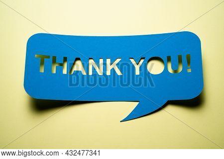Grateful Thank You Speech Bubble Note. Gratitude And Appreciation
