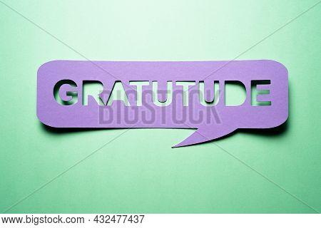 Express Gratitude In Writing Conceptual Speech Bubble