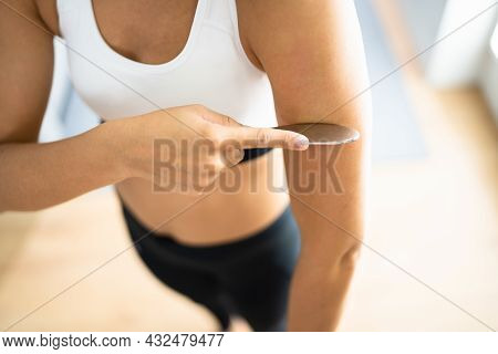 Gua Sha Arm Therapy Treatment. Muscle Physiotherapy
