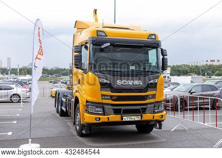 Scania G410 Xt - Special Vehicle With Palfinger Hooklifts System And With Cng Engine. Wastetech 2021