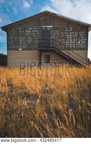 Abandoned Building Bunkhouse In Jeffrey City, Wyoming - A Uranium-mining Boomtown, Now A Ghost Town