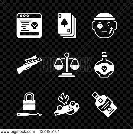 Set System Bug, Playing Cards, Bandit, Lock Picks For Lock Picking, Burning, Whiskey Bottle, Sniper