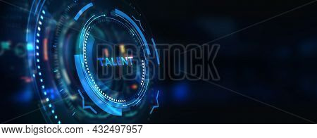 Open Your Talent And Potential. Talented Human Resources - Company Success. 3d Illustration
