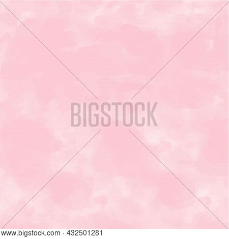 Abstract Vector Watercolor Paint Textured Paper Gradient Background. Purple Backdrop Design. Pastel