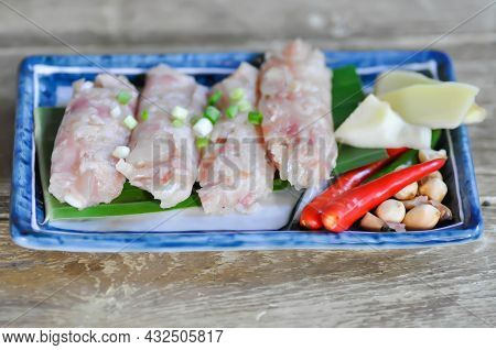 Pickled Pork Sausage, Fermented Pork And Chili Or Sour Pork And Chili