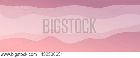 Abstract Waves Fluid Line Modern Gradient  Background Combined Pale Colors. Trendy Template For Broc