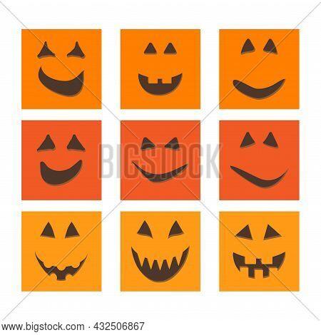 Halloween Pumpkin Face Jack O-lantern Greeting Cards.