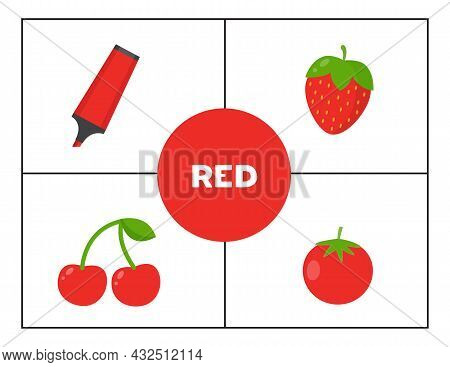 Learning Basic Primary Colors For Children. Red.
