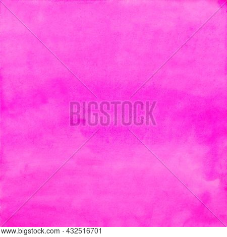 Pink Watercolor Background For The Whole Format,bright Juicy Fuchsia Color