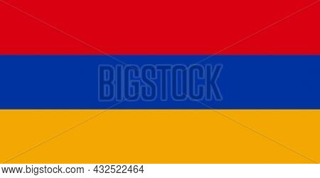 Armenia National Flag Part Of The Former Soviet Republic