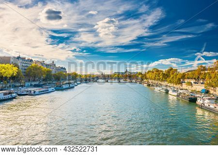 Paris Cityscape With View Over Seine River
