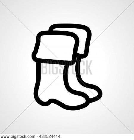 Boots Vector Line Icon. Boots Linear Outline Icon.