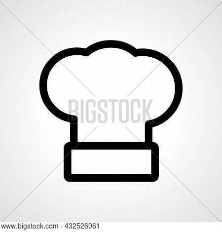 Chef Hat Vector Line Icon. Chef Hat Linear Outline Icon.