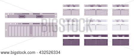 Server Modules Set, Technology For High Performance Computing System. Desktops And Laptop Memory Com