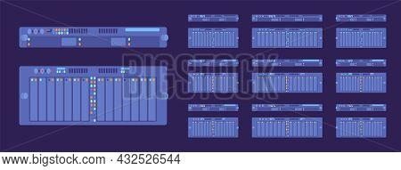 Server Modules Dark Set, Technology For High Performance Computing System. Desktops, Laptop Memory C