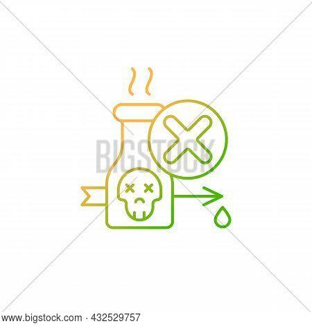 Illegal Poison Hunting Gradient Linear Vector Icon. Prohibit Poisonous Substances Usage. Unlawful Pr