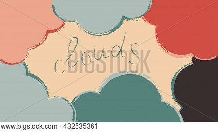 Dramatic Сloud Abstraction. Design Template For Brochures, Flyers, Magazine, Card, Branding, Banners