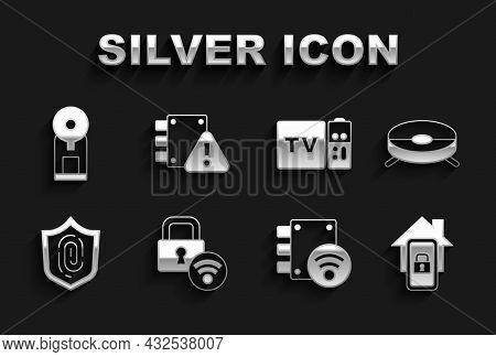 Set Digital Door Lock, Robot Vacuum Cleaner, Mobile With Smart Home, Fingerprint, Multimedia And Tv