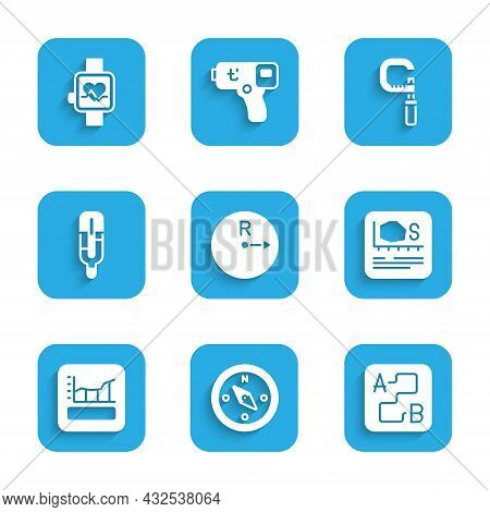 Set Radius, Compass, Route Location, Area Measurement, Graph, Schedule, Chart, Diagram, Medical Ther