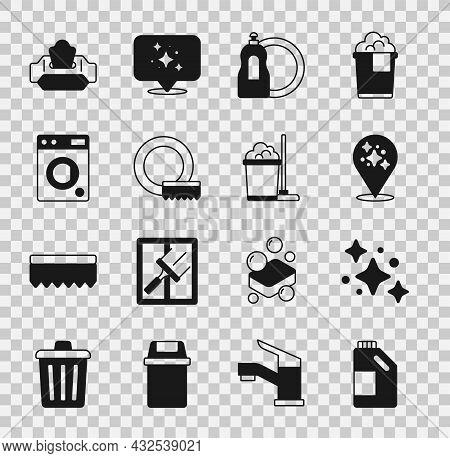 Set Bottle For Cleaning Agent, Home Service, Dishwashing Liquid Bottle, Washing Dishes, Washer, Wet